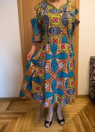 Цветное платье большого размера