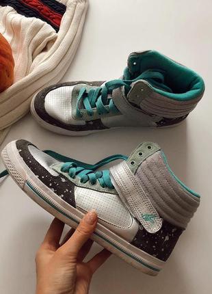 Хайтопы кожаные ботинки кроссовки cropp pp 41