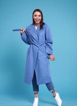 Пальто теплое из натуральной шерсти