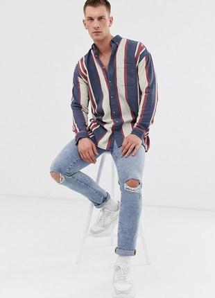 Джинсовая рубашка на высокий рост asos, размер m