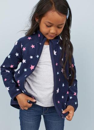 Флиска, флисовая кофта, худи для девочки h&m,размер 1,5-2, 2-4, 4-6, 6-8 лет
