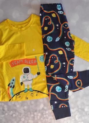 Пижама для мальчика george хлопок трикотаж 104 110 116