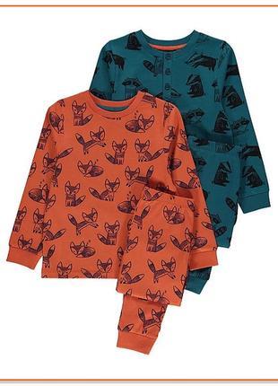 Пижама для мальчика george хлопок трикотаж 116 122 128