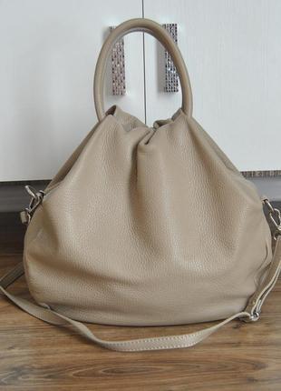 Кожаная сумка vera pelle /шкіряна сумка