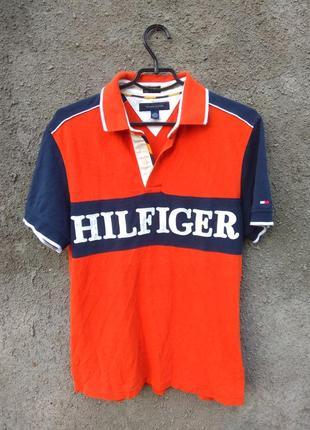 Футболка поло tommy hilfiger с большим логотипом