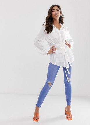 Длинная рубашка с карманами lipsy, размер  10