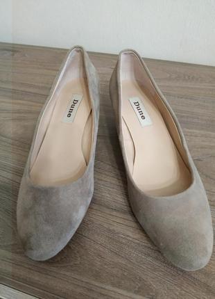 Туфли на танкетке, натуральная замша