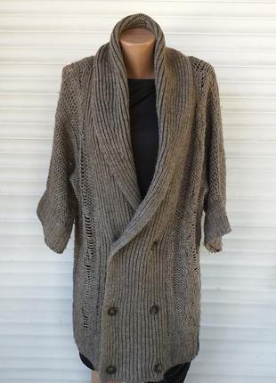 Теплое вязаное пальто diesel