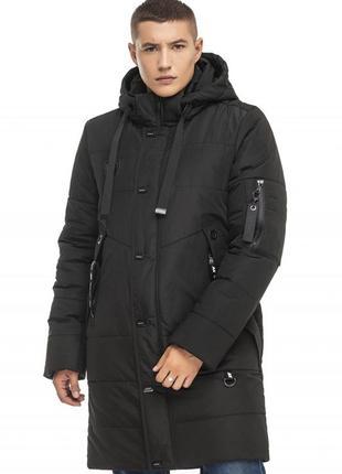 Зимняя удлиненная куртка чёрный
