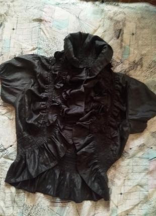 Болеро балеро пиджак накидка с воланом рукава фонарики школьное