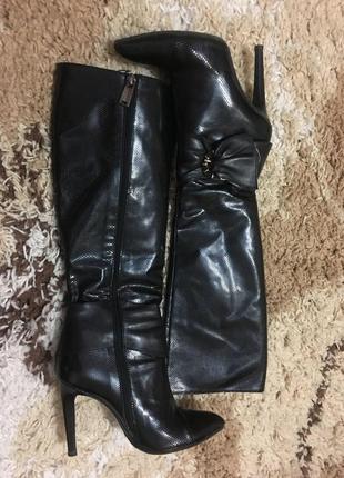 Шикарные итальянские кожаные сапоги vero cuoio
