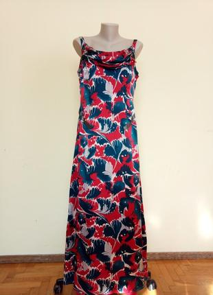 Шикарное шелковое платье
