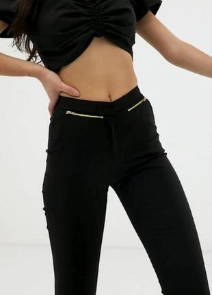 Чёрные укороченные штаны брюки new look petite