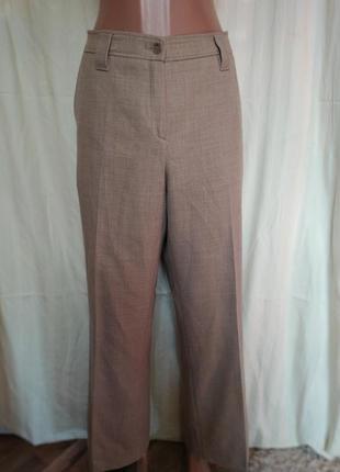 Осенние зимние штаны высокая посадка клеш 98%шерсть
