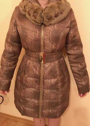 Зимове пальто 90% пуху!
