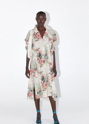 Платье dress flower цветочный принт