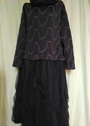 Платье миди осеннее на все случаи/повседневное/нарядное/сетка