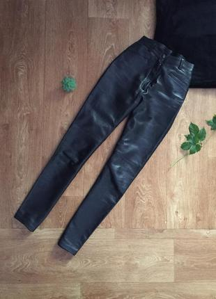 Натуральные кожаные брюки leonardo
