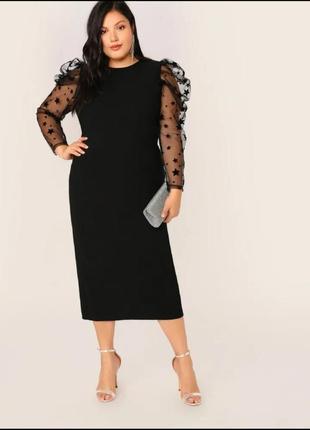 Платье-футляр размера плюс, большого размера