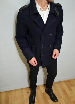 Superdry, шерстяное пальто оригинал,  фирменное очень теплое,  стильно выглядит