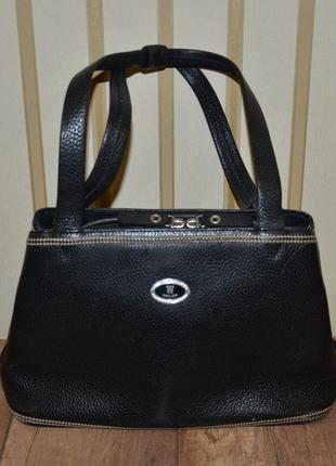 Черная кожаная сумка wanlima