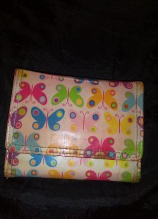 Кошелёк гаманець визитница принт бабочки еко кожа