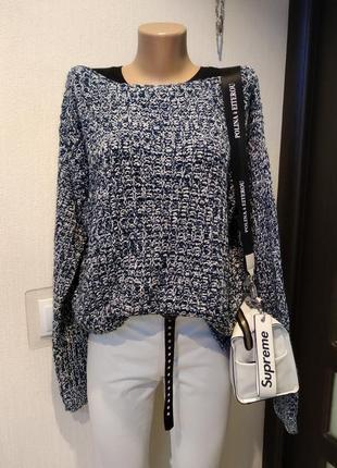 Шикарный мягусенький теплый брэндовый джемпер свитер пуловер оверсайз