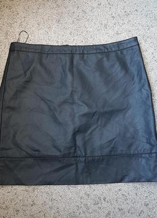 Стильная черная кожанная юбка us 12, euro 44, uk 16