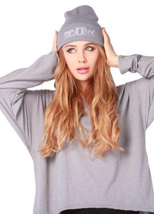 13-34 мега-крутая стильная модная шапка meow
