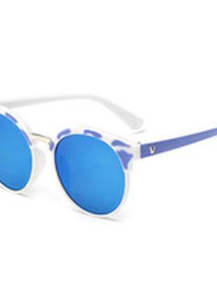 Зеркальные солнцезащитные круглые очки