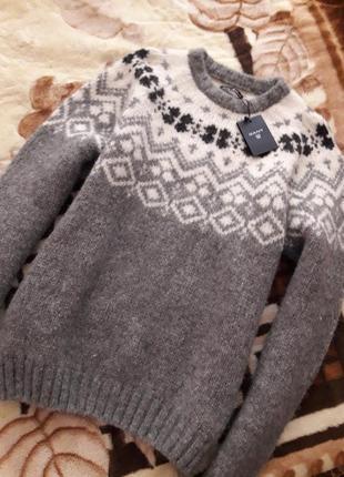 Мягкий свитер шерсть беби альпаки/мериноса