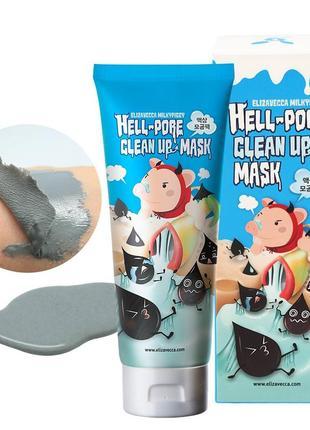 Маска пленка для очищения пор elizavecca milky piggy hell pore clean up
