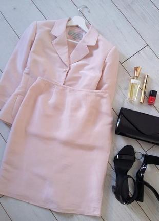 Tahari люкс бренд /люкс качество 100% silk летний костюм