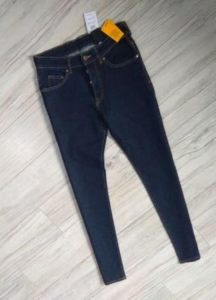 Новые с бирками мужские джинсы  черно синего цвета skinny. 28 размер.