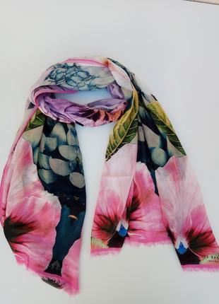 Красочный большой шарф, шаль, шарфик ted baker