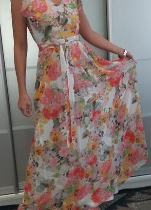 Платье макси шифон dorothy perkins с цветочным принтом
