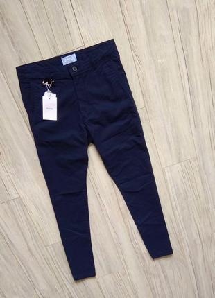 Новые с бирками мужские брендовые штаны брюки чиносы темно синие 30 размер