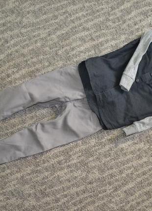 Рубашка с трикотажными руковами