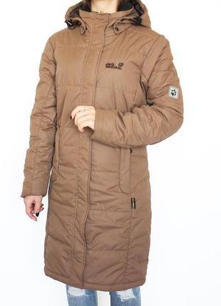 Удлиненная зимняя куртка с капюшоном теплая