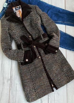 Шерстяное пальто dolce&gabbana оригинал