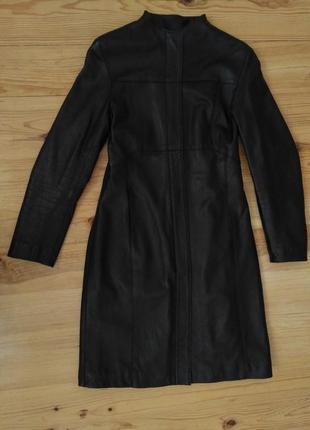 Кожаный тренч пальто плащ лайка с-м размер тренд