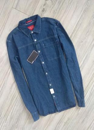 Новая с бирками мужская джинсовая рубашка l размера