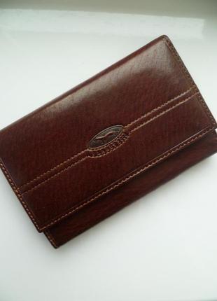 Мужской кошелек vera pelle, кожаный кошелек, чоловічий гаманець италия