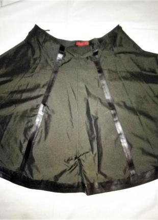 Prada юбка с кожаными вставками