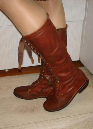 Кожаные стильные сапоги j shoes