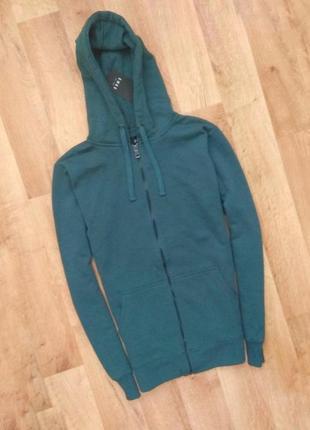 Новая с бирками брендовая  мужская кофта на молнии зеленного цвета, s,m,l размеров