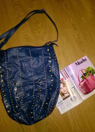 Крутая ,стильная, вместительная синяя сумка