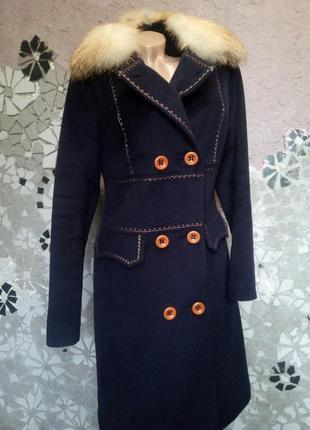Теплое пальто миди зима