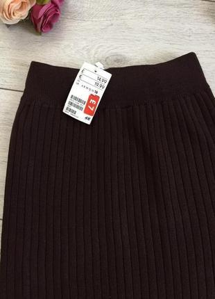 Распродажа!!!теплая вязанная юбка/осень/зима/новая h&m/высококачественная