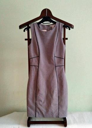 Классическое платье футляр - плотная мягкая ткань